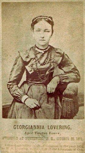 Georgianna Lovering, Murdered by Franklin Evans, in