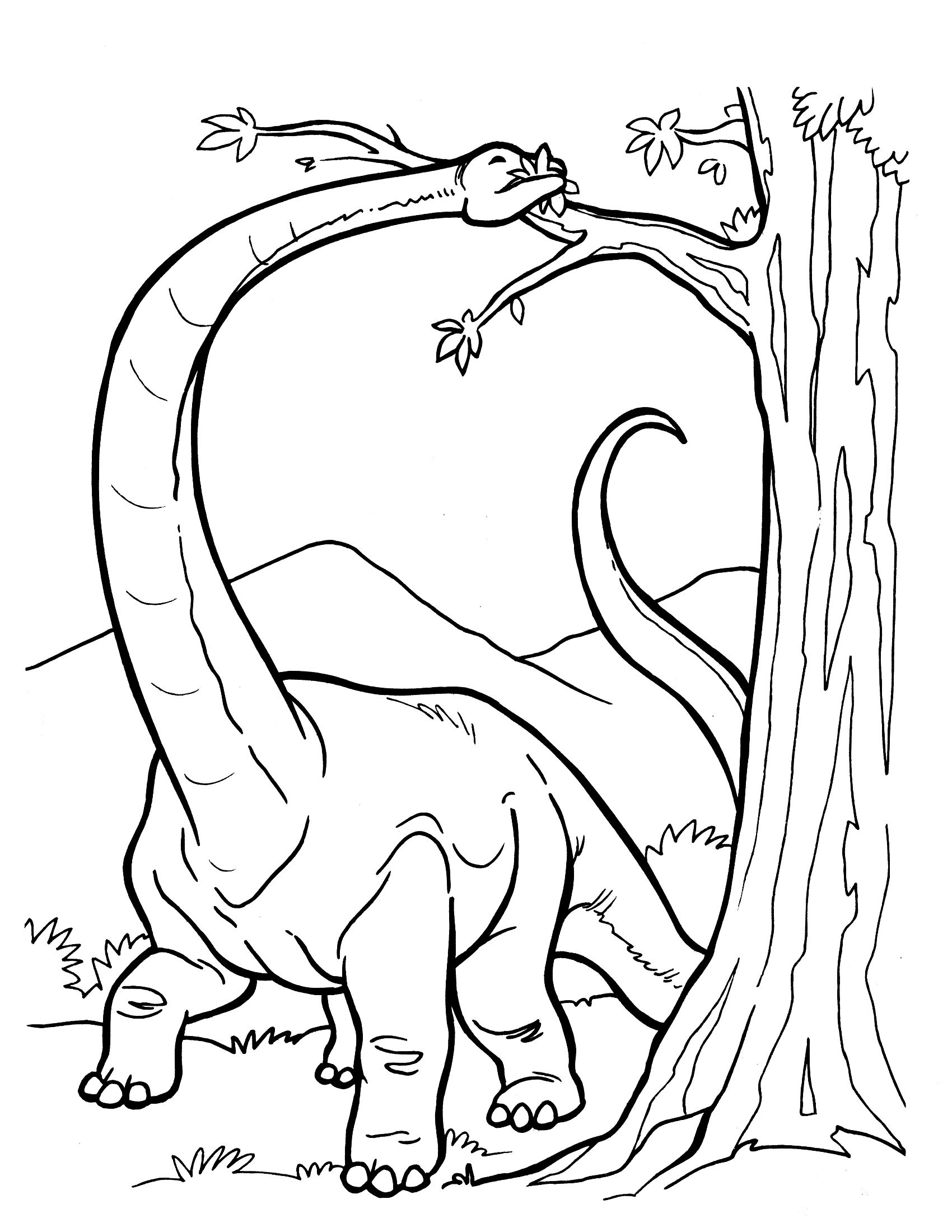 Dinosaur Coloring Pages Realistic   Clip and Color part two ...