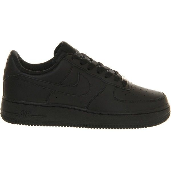 b265965262887 Nike Air Force 1 leather trainers ($50) ❤ liked on Polyvore featuring shoes,  sneakers, nike, sport sneakers, low top, nike shoes and perforated leather  ...