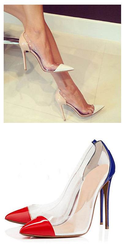 52e4fdd502f Latest trend - transparent point toe stiletto women shoes for work ...