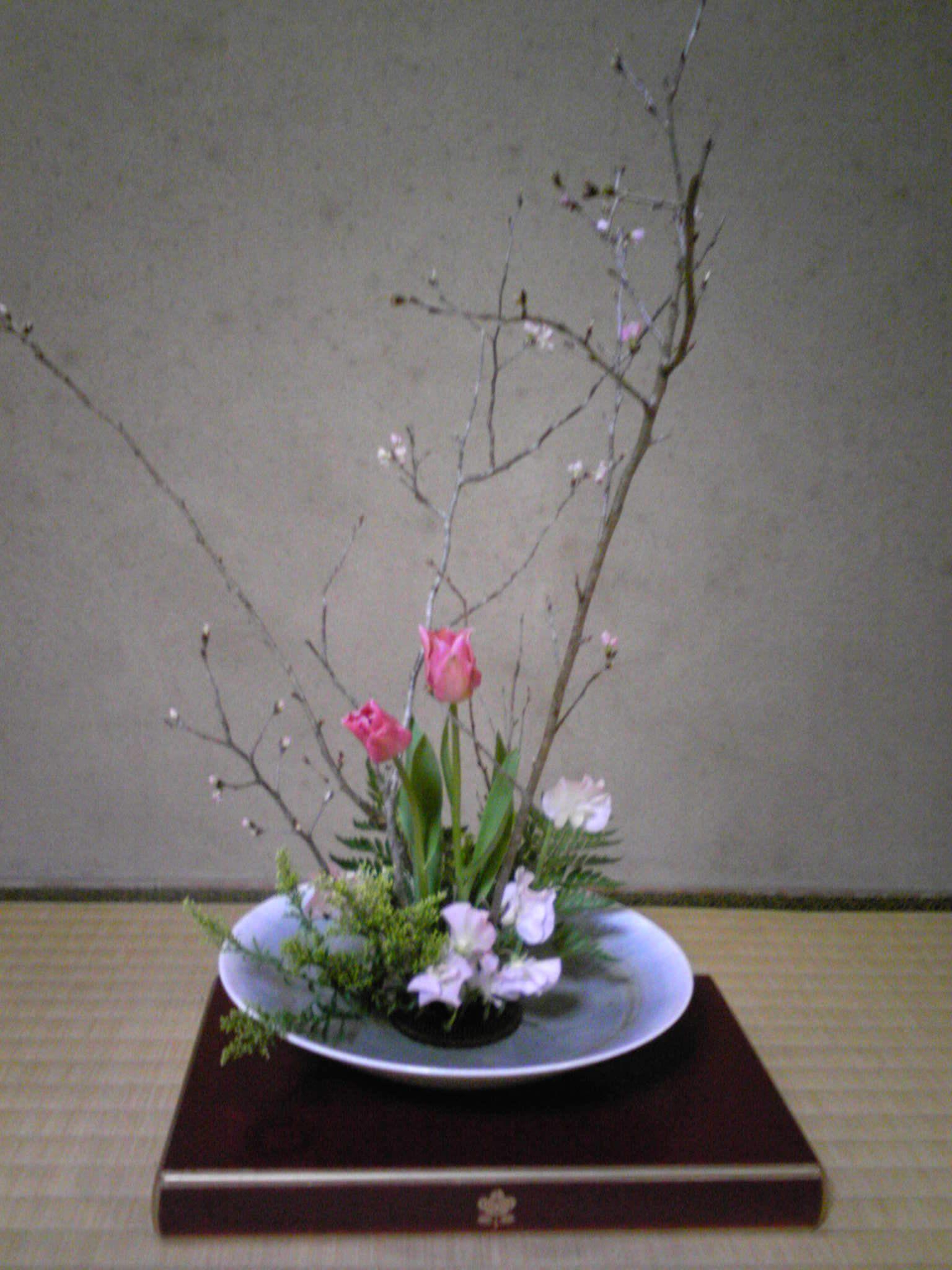 tall cherry blossom ikebana wedding arrangements - google search