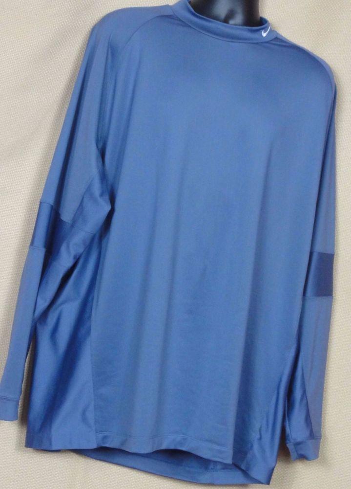 0125e784 Nike Golf Dry Fit Mens Purple Mock Turtle neck Shirt Size XXL Logo on  Collar #Nike #MockTurtleneck