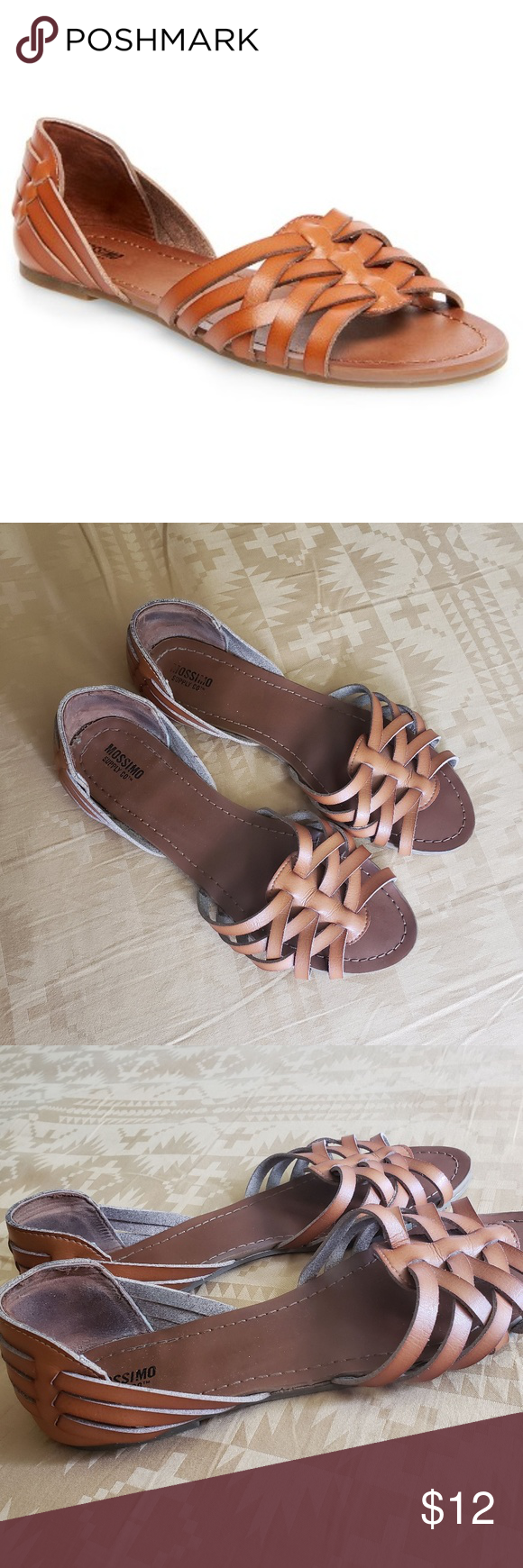 e7afb02c2d64 Mossimo Huarache Sandals Mossimo huarache sandals from Target in whiskey  faux leather. Cute with jeans