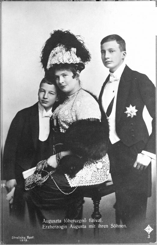 Auguste Prinzessin Von Bayern Joseph Franz Und Ladislaus Erzherzog Von Osterreich Ungarn Bayern Herzog