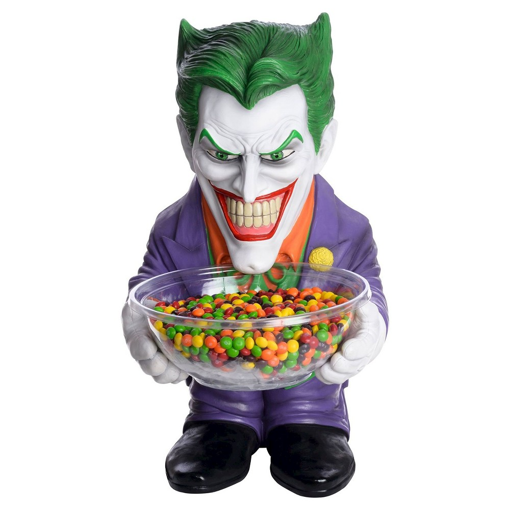 the joker halloween candy bowl and holder, multi-colored | products