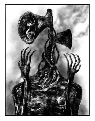 Siren Head Villains Wiki Fandom In 2020 Scary Art Creepy