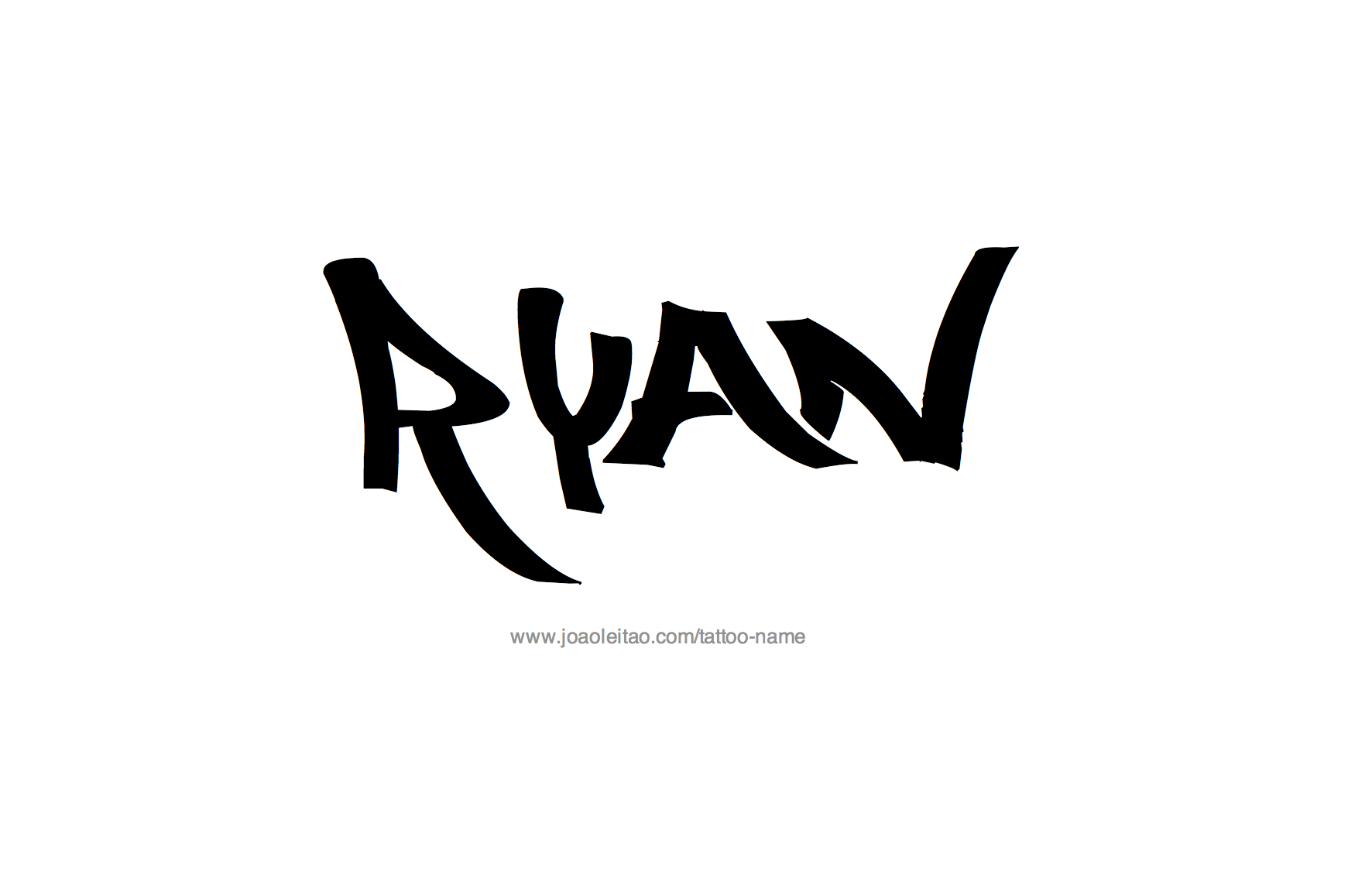 21++ The name ryan in different fonts ideas
