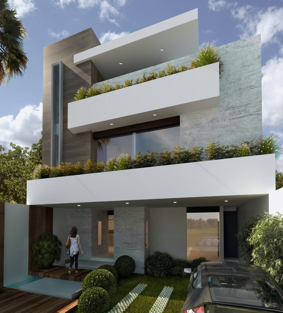 Casa saucedo borda casas pinterest fachadas casas y for Fachadas edificios minimalistas