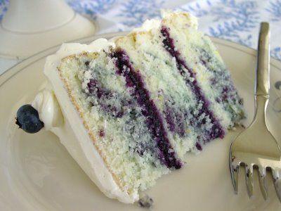 Lemon Blueberry Cake. Perfect for summertime.