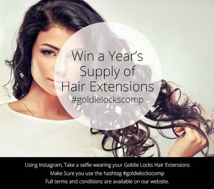 competition time get your hair extension selfies in by 12pm on
