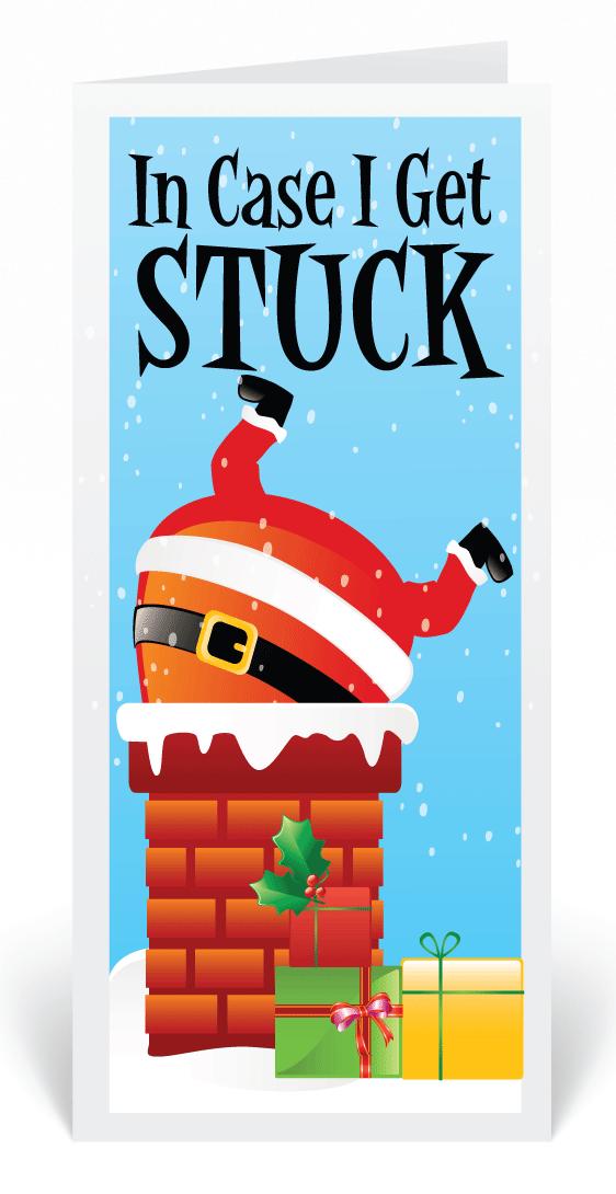 Humorous Santa Claus Christmas Greeting Cards, Funny Cartoon Santa ...