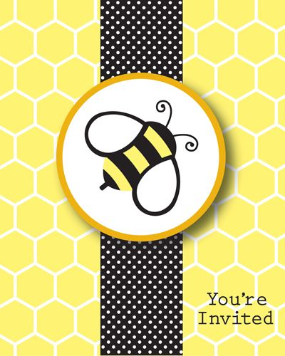 I Could Totally Make This: Bumble Bee Party Invitations.. I Could Totally Make These