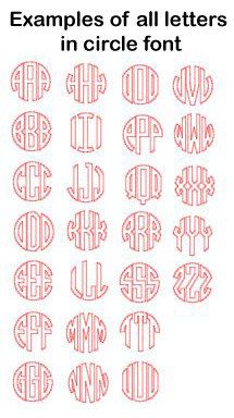 vinyl monogram decal 3 inch 425 via etsy