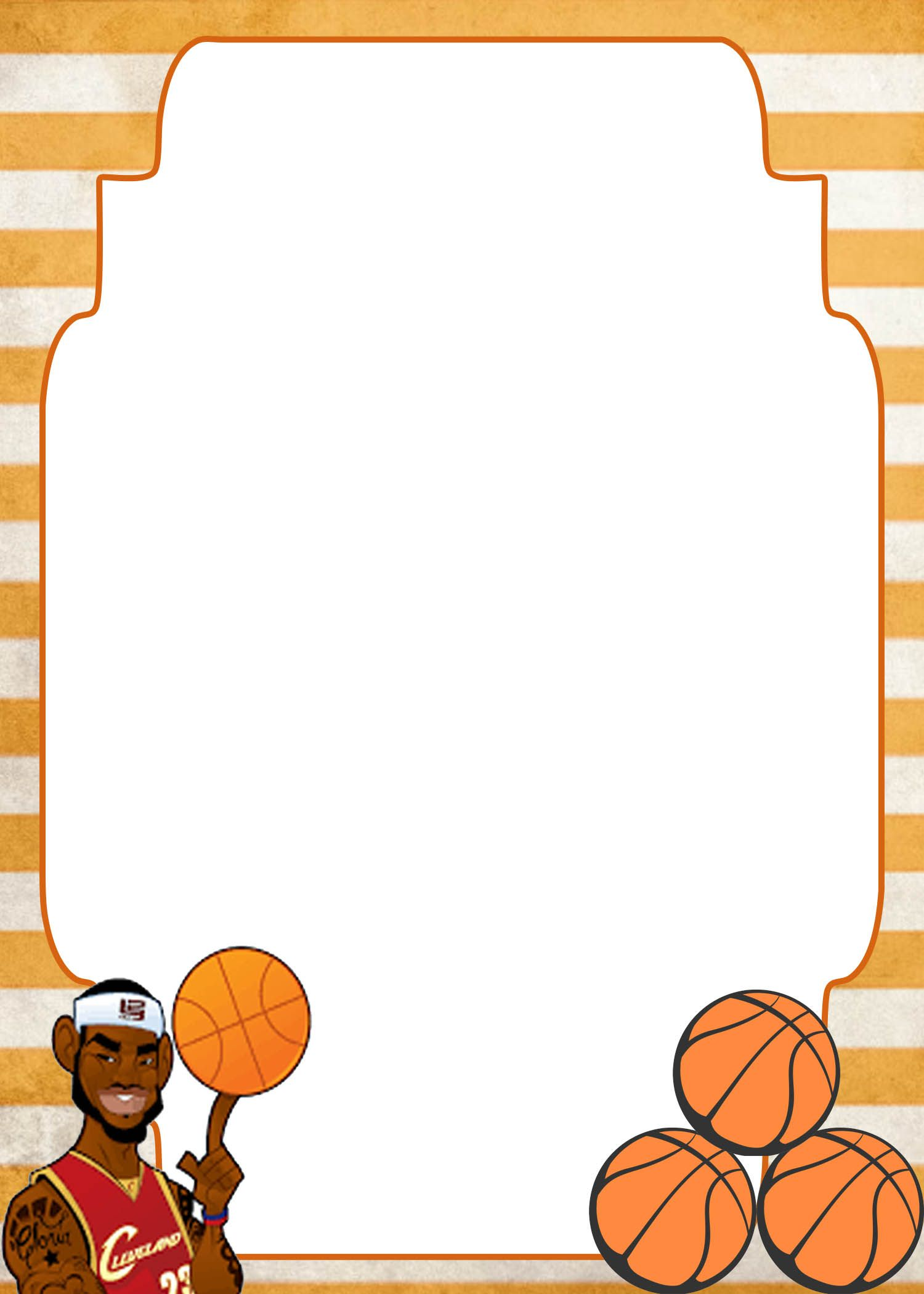 FREE Printable Basketball Invitation Templates