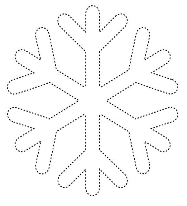 Simple Snowflake Coloring Page | Teach | Pinterest | Simple snowflake