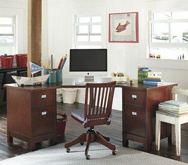 I Love The Schoolhouse Corner Desk On Potterybarnkids Com Corner Desk Furniture Desk
