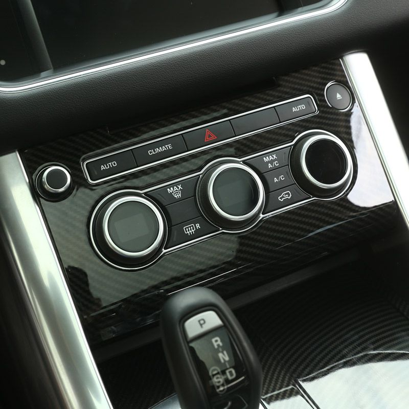 Carbon Fiber Style ABS Plastic Center Console AC Panel