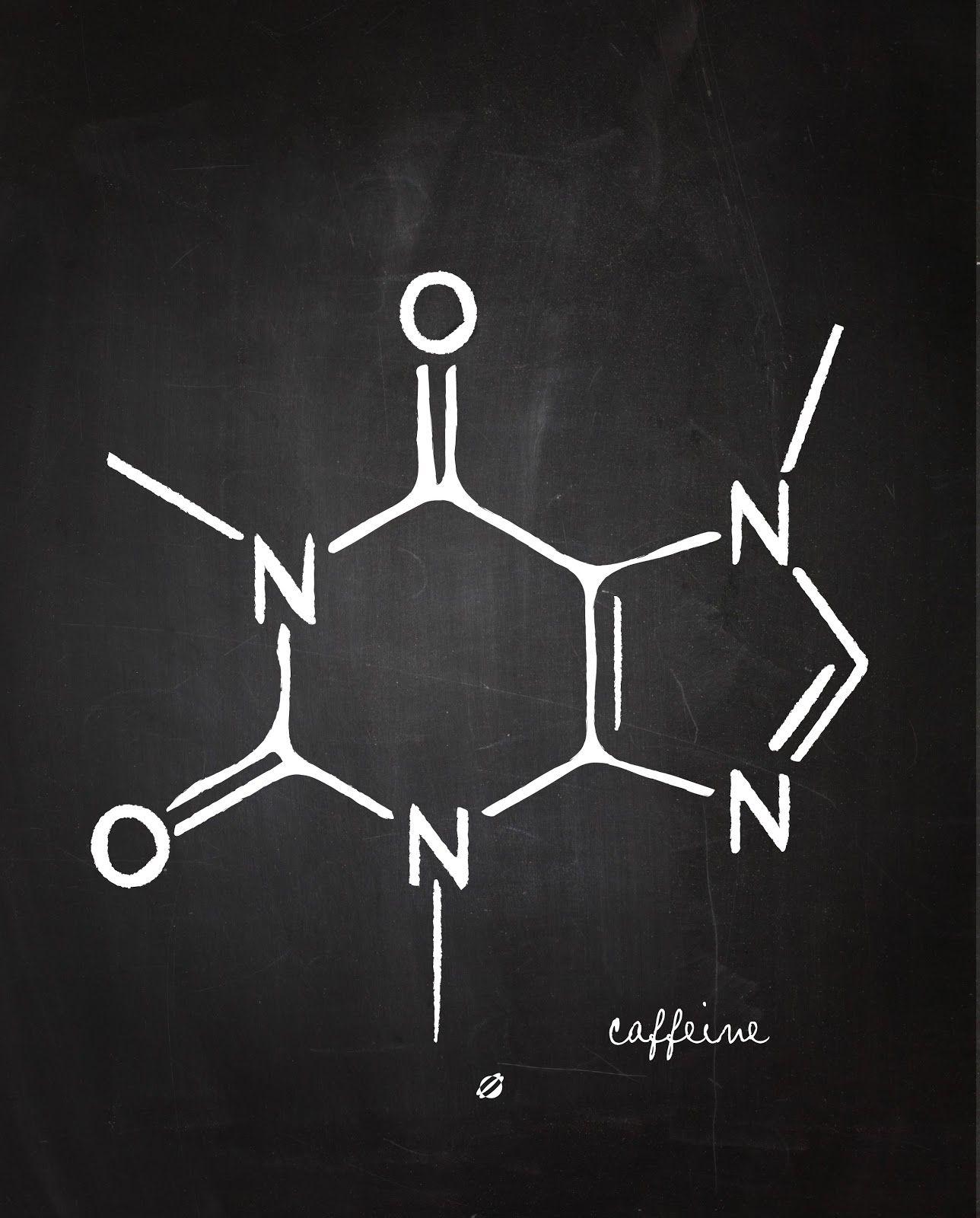 lostbumblebee 2014 caffeine chemistry 101 free printable plant science food science science humor [ 1288 x 1600 Pixel ]