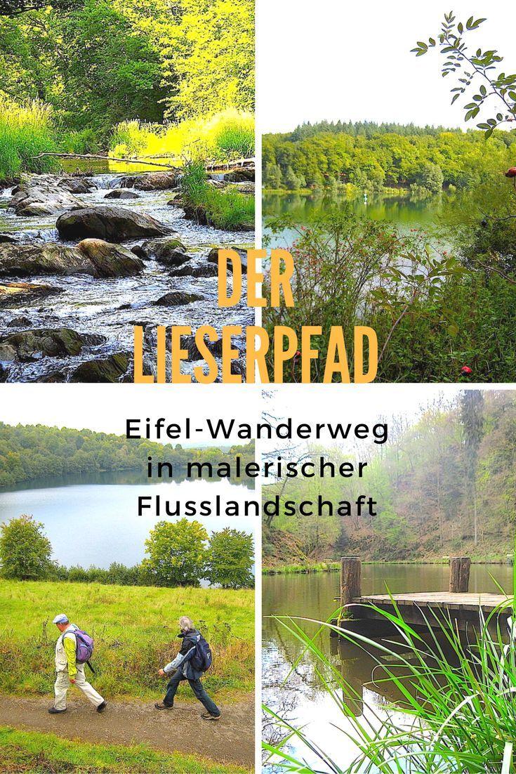 Lieserpfad – ein Eifel Wanderweg in Flusslandschaft