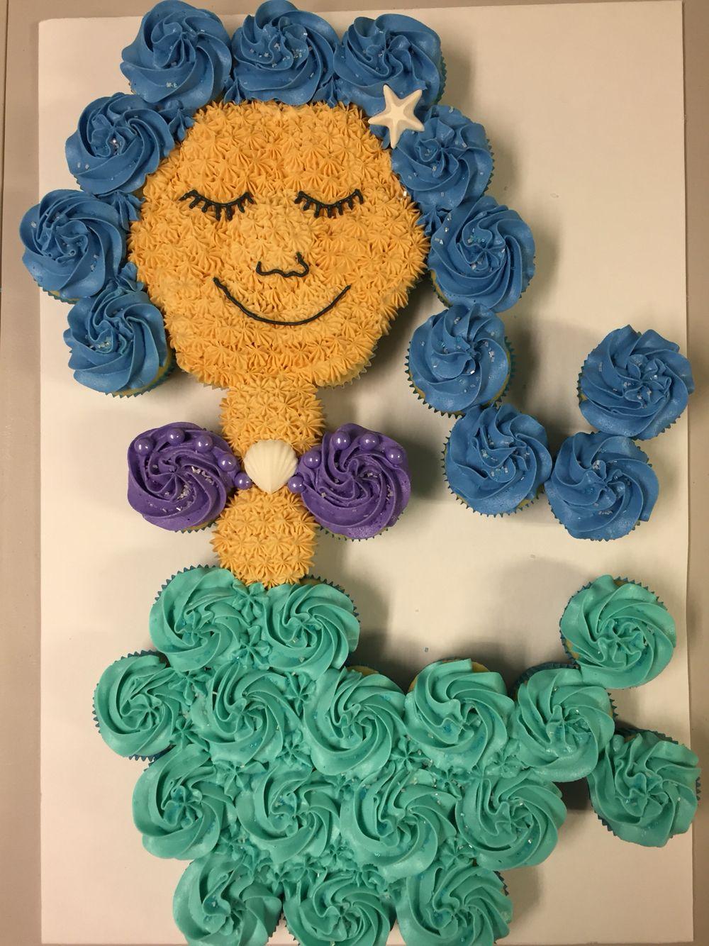 Mermaid Cupcake Cake Mermaid Birthday Cakes Mermaid