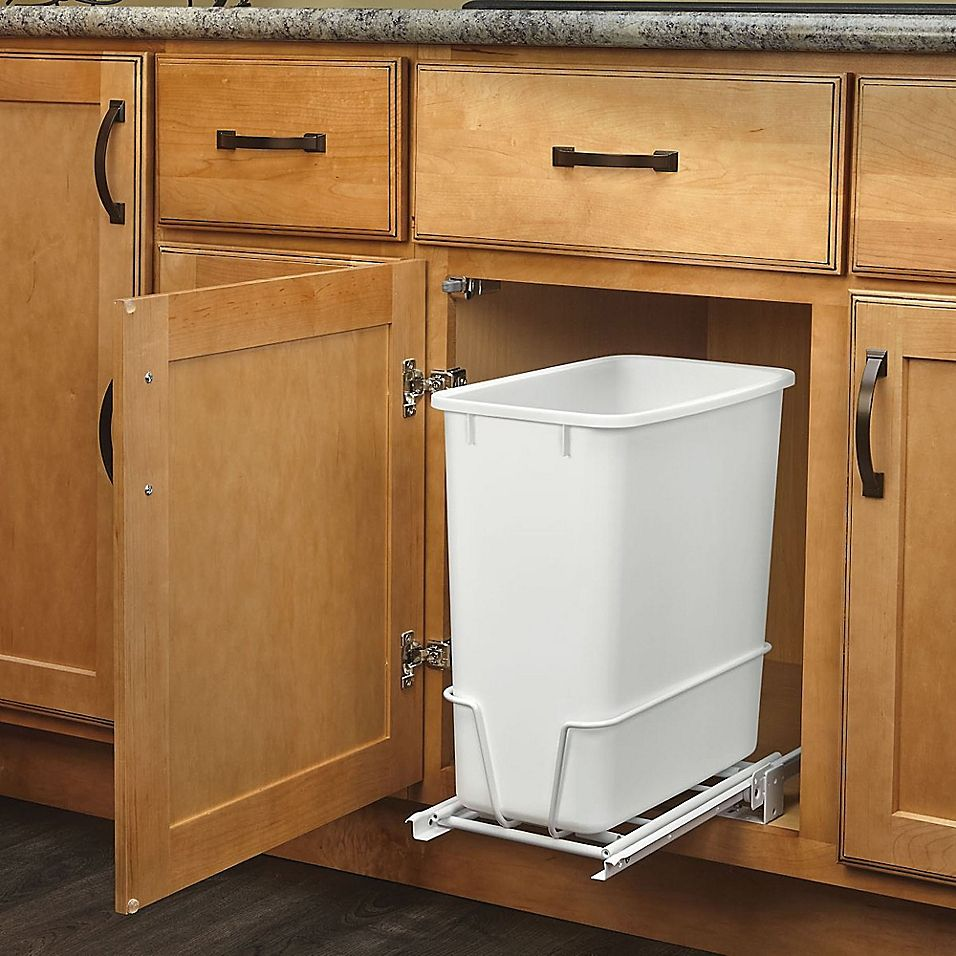 Download Wallpaper Off White Kitchen Garbage Can
