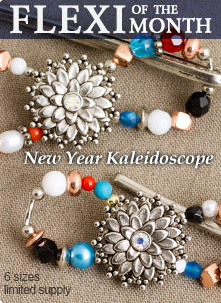 Happy New Year! The first Flexi of the Month for 2013 is here! The New Year Kaleidoscope with the continual changing of colors and shapes is perfect to usher in the changes of each new year. Wear this delightful Flexi Clip with any updo! Available in 6 sizes while supplies last at www.lillarose.biz/DebToms