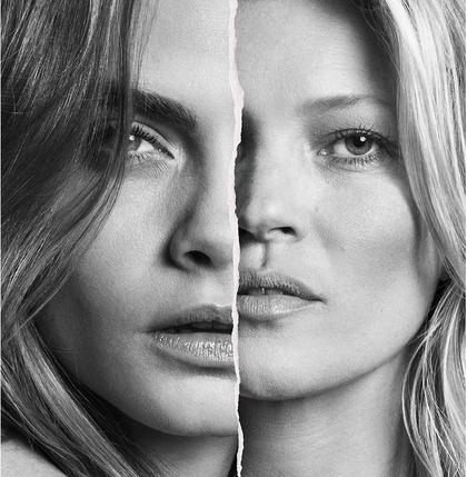 Cara Delevingne & Kate Moss
