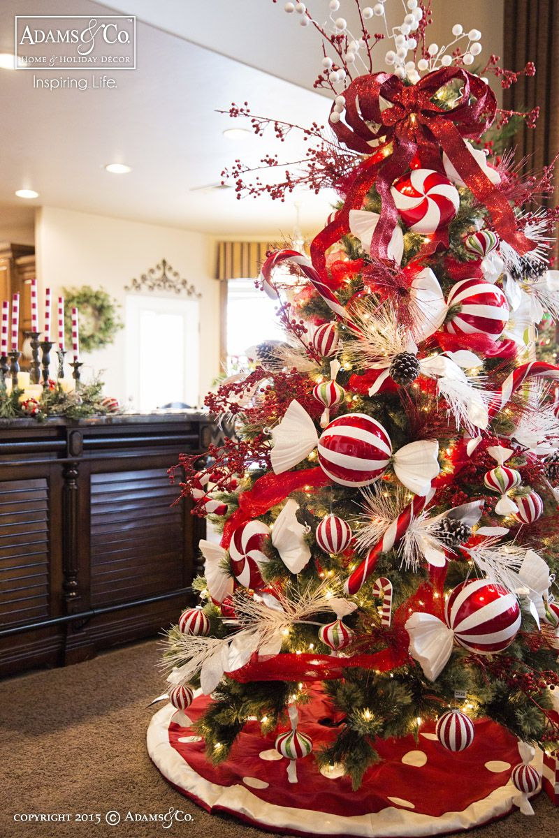 peppermint christmas tree 2015 christmas adamsandcompany adamsandco inspiringlife - Peppermint Christmas Decorations