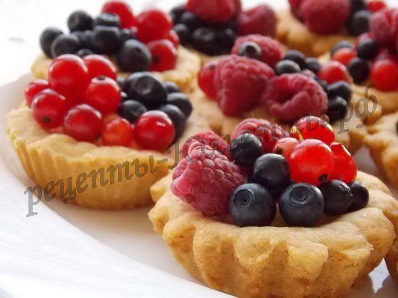 Рецепты ягодные корзиночек из песочного теста