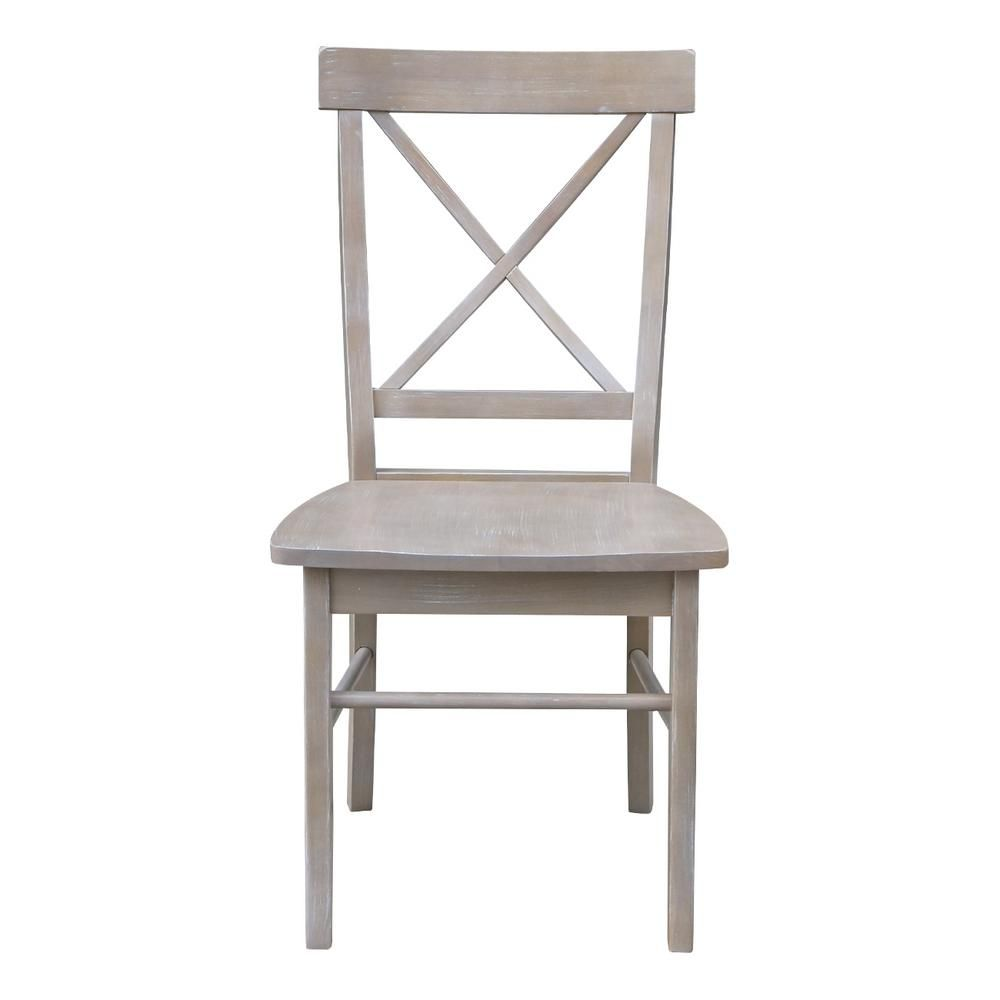X Back Weathered Gray Dining Chair Set Of 2 Solid Wood Dining Chairs Dining Chairs Gray Dining Chairs