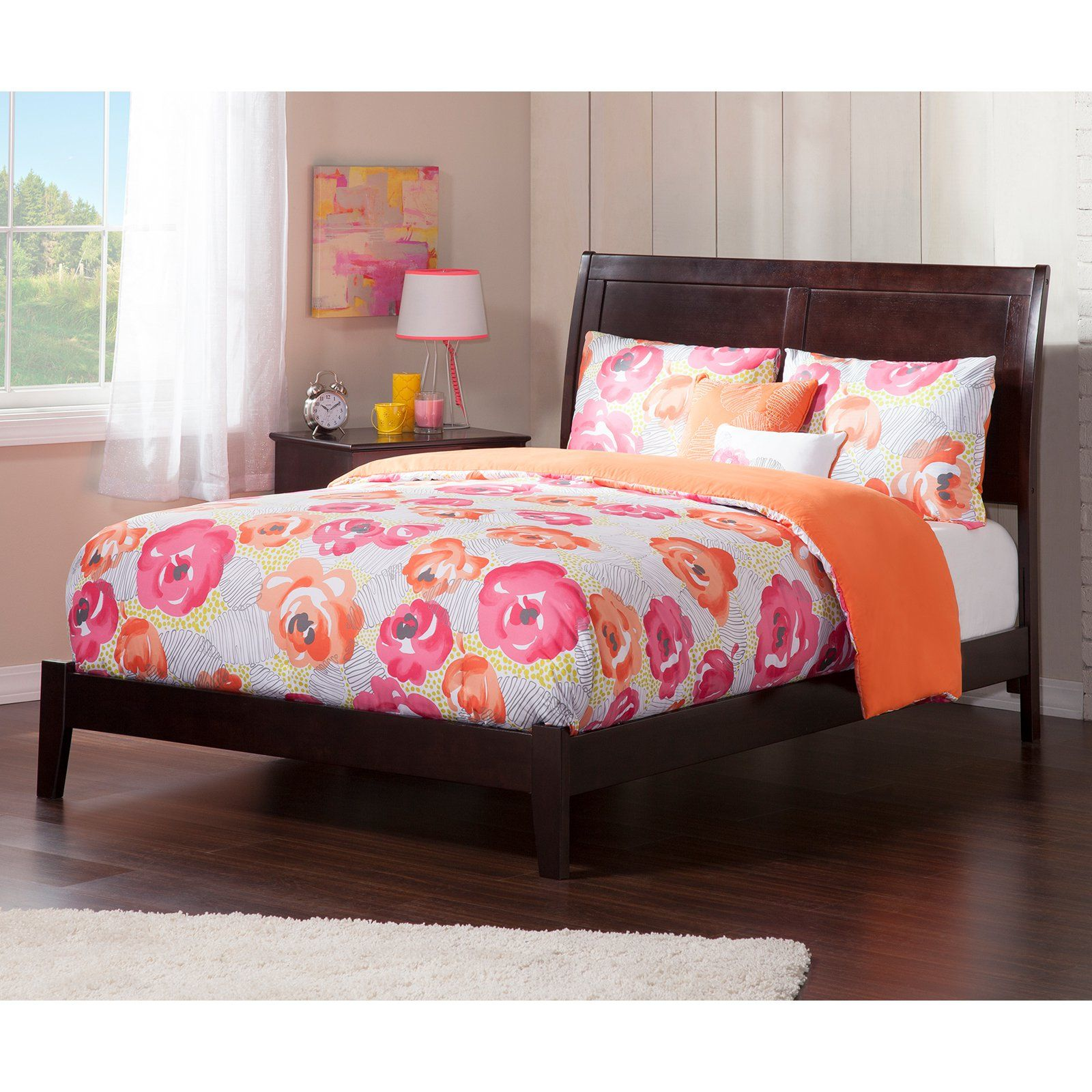 Atlantic Furniture Portland Traditional Bed Modern Bedroom