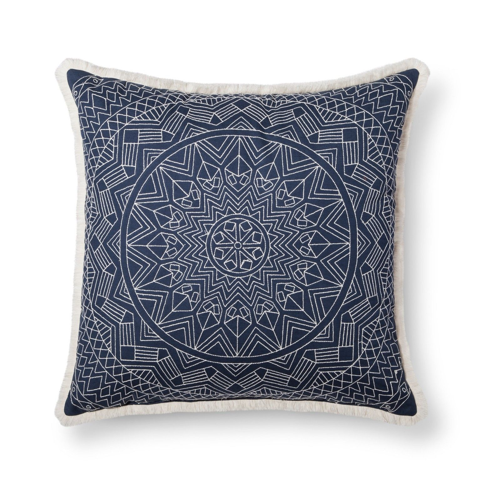 Blue Metallic Oversized Throw Pillow Threshold