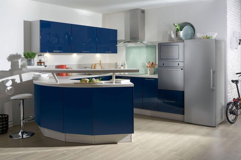 Super Une cuisine ouverte avec bar arrondi | Cuisine | Pinterest  LZ39