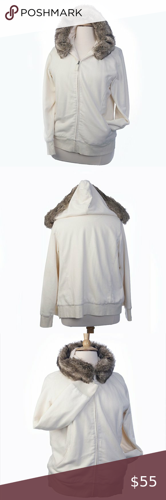Ll Bean Zip Up Sweatshirt Jacket Outerwear Hood Xl White Winter Jacket Sweatshirt Jacket Outerwear Jackets [ 1740 x 580 Pixel ]