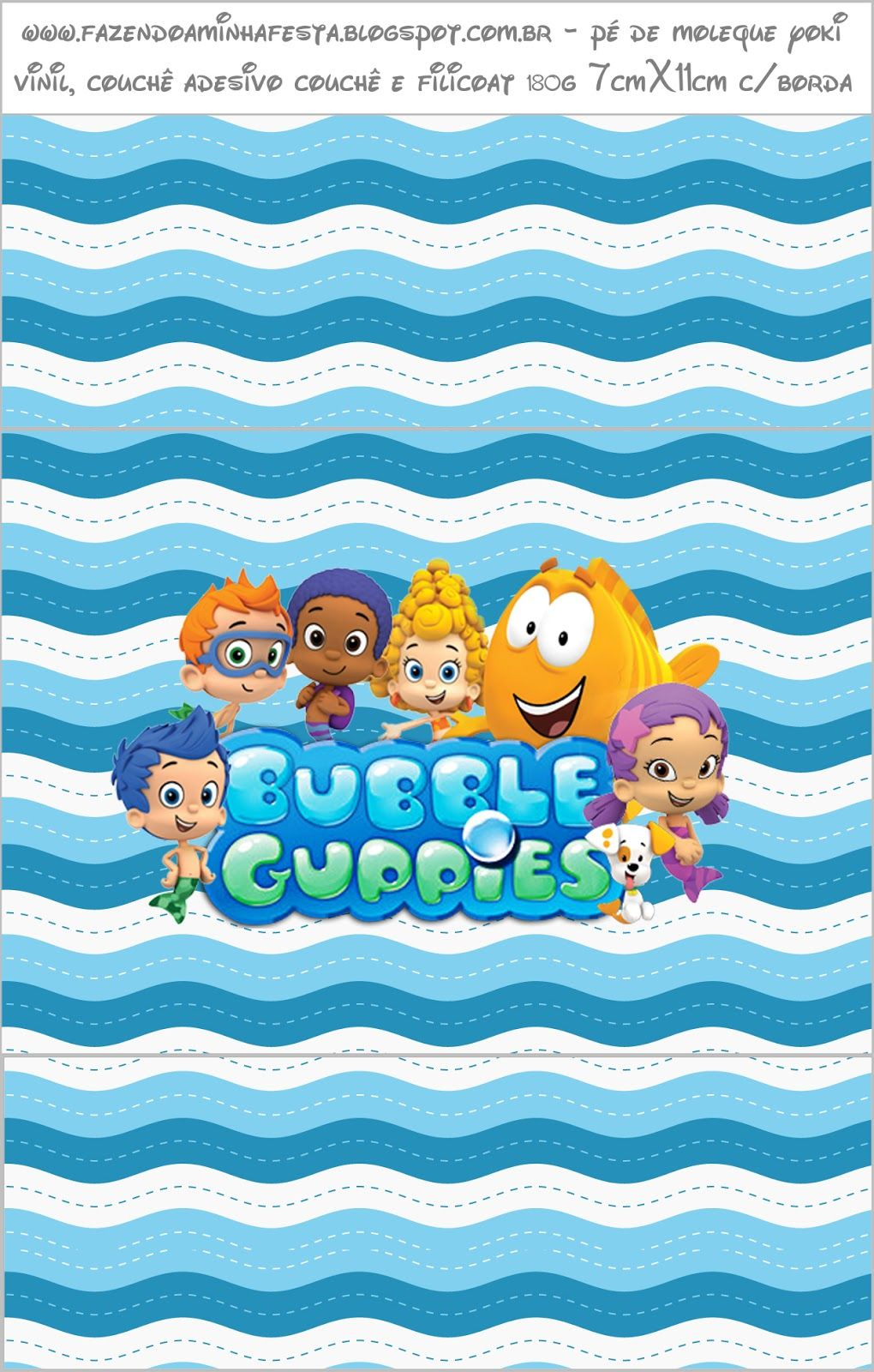 Bubble Guppies - Kit Completo com molduras para convites, rótulos ...
