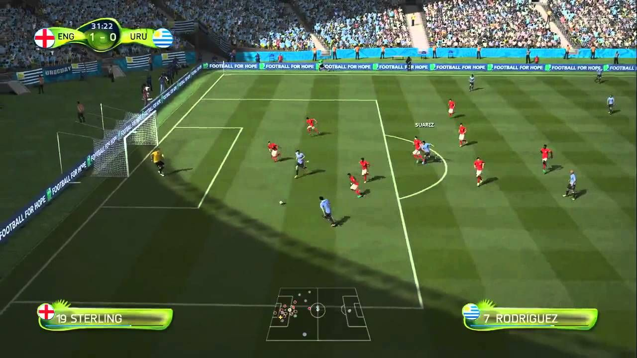 Fifa 14 World Cup Simulation England Vs Uruguay Soccer