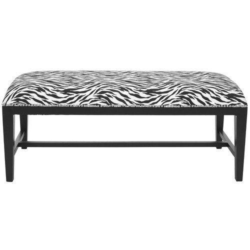 Sensational Safavieh Zambia Zebra Print Bench Furniture Etc Bench Machost Co Dining Chair Design Ideas Machostcouk
