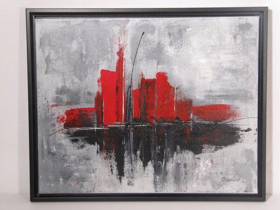 Peinture abstraite acrylique sur toile 16