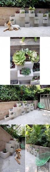 Trendy diy tuin verticaal hoe ideeën te bouwen #betonblockgarten