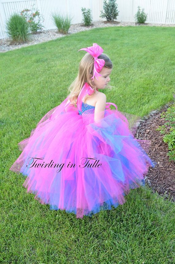 1b7b3be22ca Flower Girl Dress Royal Blue/Shocking Pink by TwirlinginTulle, $65.00