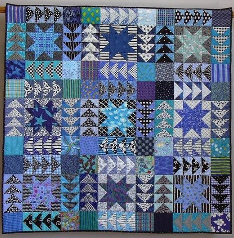 Quilt Made From The Sawtooth Star Quilt Block And Flying
