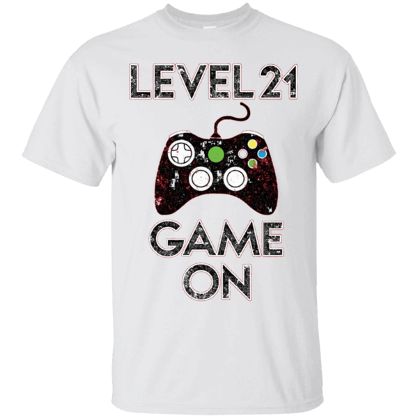 b936572981 Level 21 Game On Funny Video Games 21st Birthday Gift TShirt - T ...