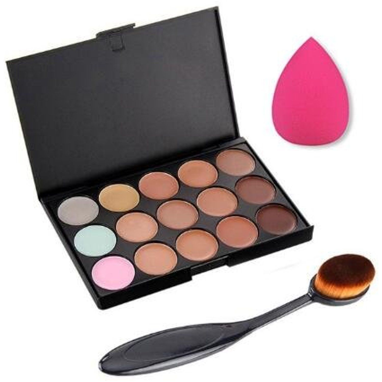 Vi.yo 3 Pieces of Set Makeup Brush Palette of Blush