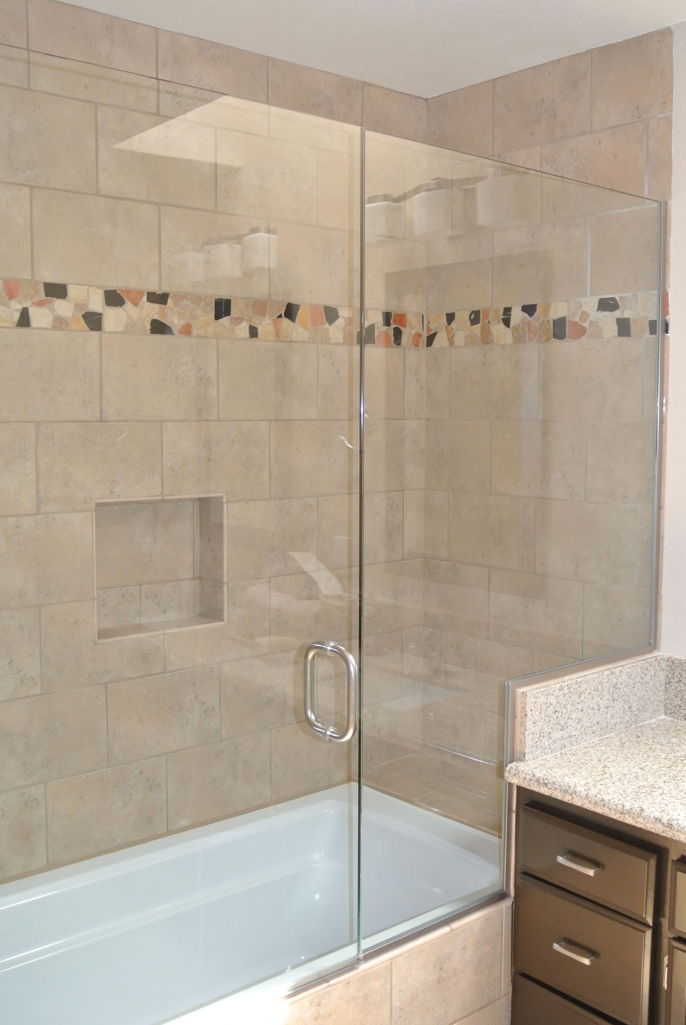 how to build a tile tub and shower