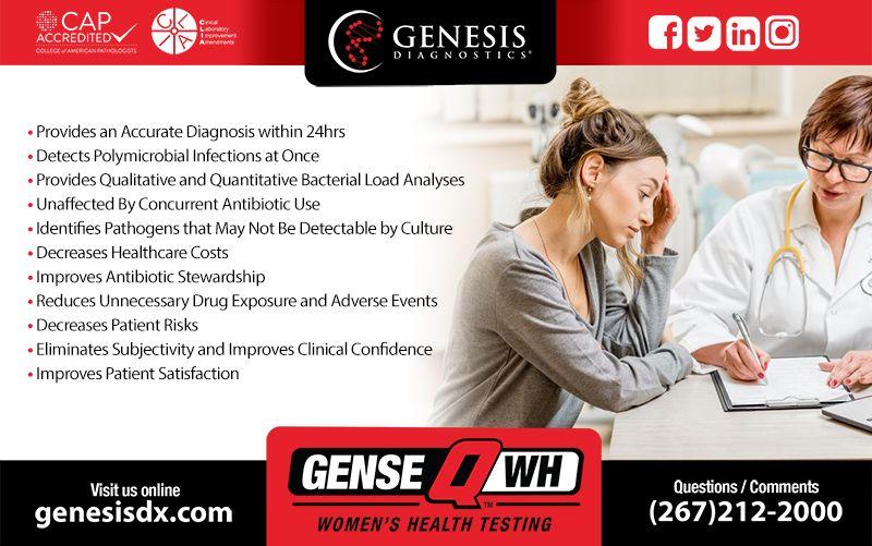 Fast, Accurate and Reliable Genesis Diagnostics genesisdx