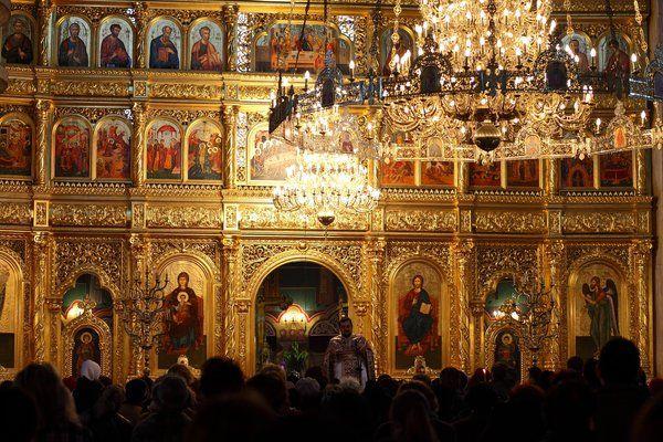 Arad Rumänien gottesdienst in einer griechisch orthodoxen kirche in arad rumänien
