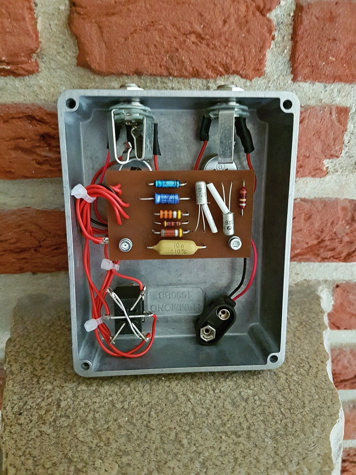 dallas arbiter fuzz face with selected germanium ac128 transistors and n o s parts guitar. Black Bedroom Furniture Sets. Home Design Ideas