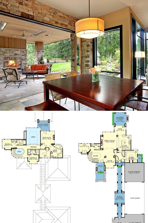3Bedroom TwoStory Prairie Home with Basement (Floor Plan