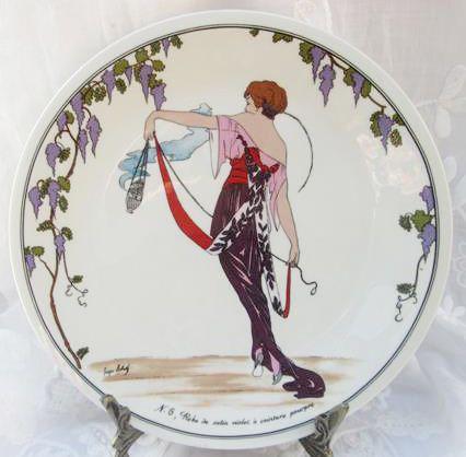 German Porcelain - VILLEROY \u0026 BOCH LUXEMBOURG GERMANY DESIGN 1900 PORCELAIN BREAD PLATE for & Villeroy \u0026 boch luxembourg germany design 1900 porcelain bread ...