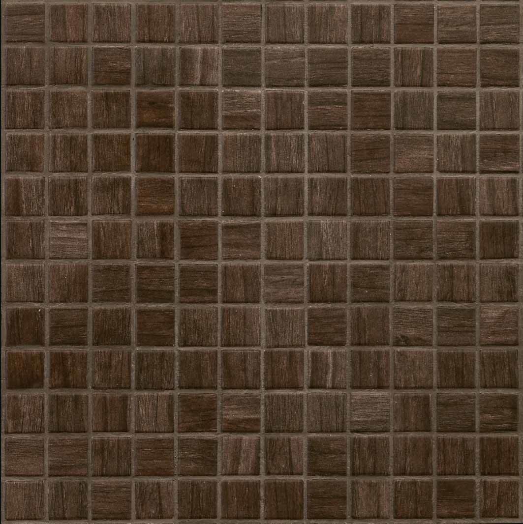 1 X 1 Recycle Glass Mosaic Tile In Chcolate Products Pinterest